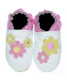Jack & Lily Baby Shoes - White Daisy Patch