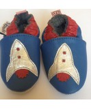 Skoose Soft Shoes - Blue Rocket