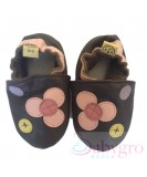 Skoose Soft Shoes - Brown Buttons