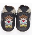 Jack & Lily Baby Shoes - Black Cowboy